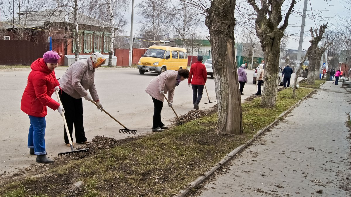 Картинки уборки на улице