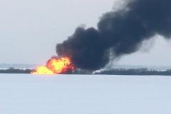 газопровод пожар