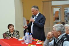 Слева направо - члены ОП Ольга Каркина, Алексейц Меринов и Рудольф Подоль