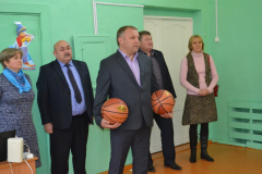 Сараи Гракову открытие спортзала в школе 3