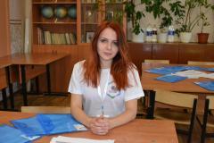 Евгения Широбакина, командир отряда волонтеров, студентка 5 курса  РязГМУ