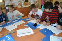 Школьники заполняют дифференциально-диагностческий опросник