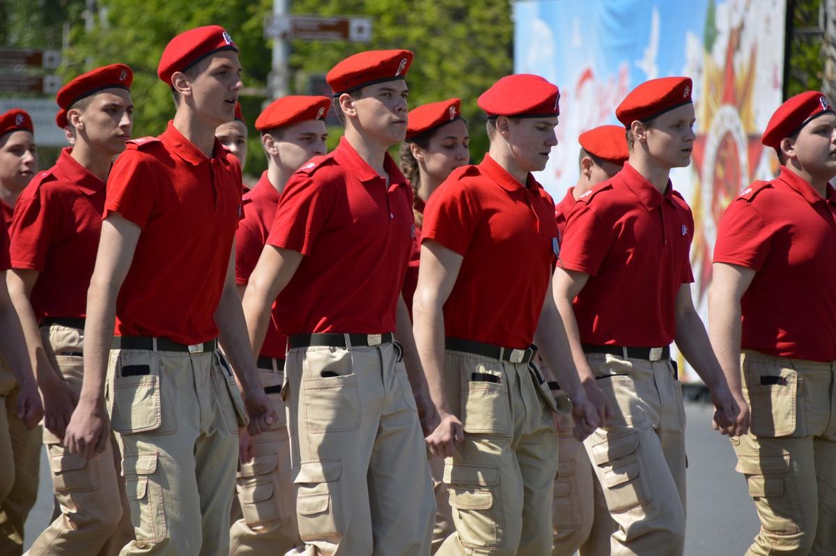 В День Победы на площади Ленина в Рязани выбрали лучшую строевую песню