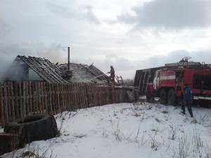 Сараи Гракову пожар в Кривском 2