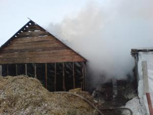 Сараи Гракову пожар в Кривском 4